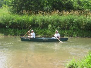 Canoeing down the Creek