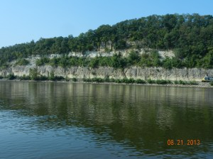 Cliffs below Hannibal , MO