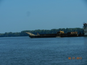 Unloading sand off channel