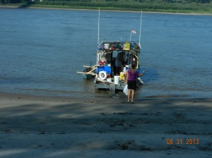 AT Thebes, Il , boat landing where the boys got off at end of their short trip