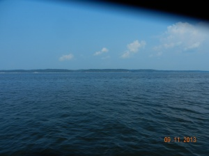 We are now in Kentucky Lakle,  looking across to the east shoreline.