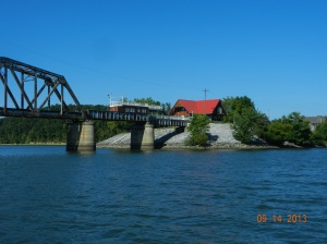 Old railroad bridge on east bank,  .  A real nice setting.
