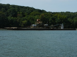 Sand and Gravel  company dredging to get sand and rock