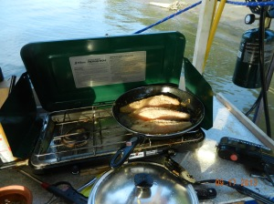 Frying our catfish for supper