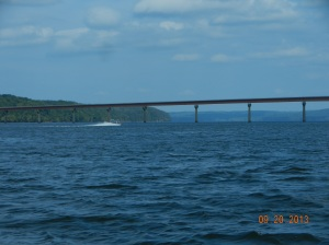 Nachez Trace Parkway crossing Pickwick Lake and the Tennessee River