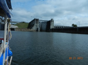 Approaching Wilson Lock, our final and highest lift