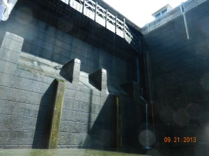 Inside the lock with 100 foot walls