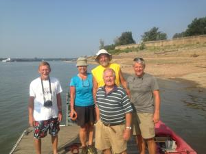Eian  Davis, Gene and Barg Geiger, Milt and Stan at dock near Metropolis, Il   before everyone continued their journeys